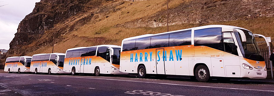 Harry Shaw coaches in Scotland